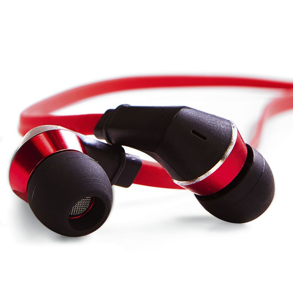 tangle free earphones red black earphones accessories verbatim