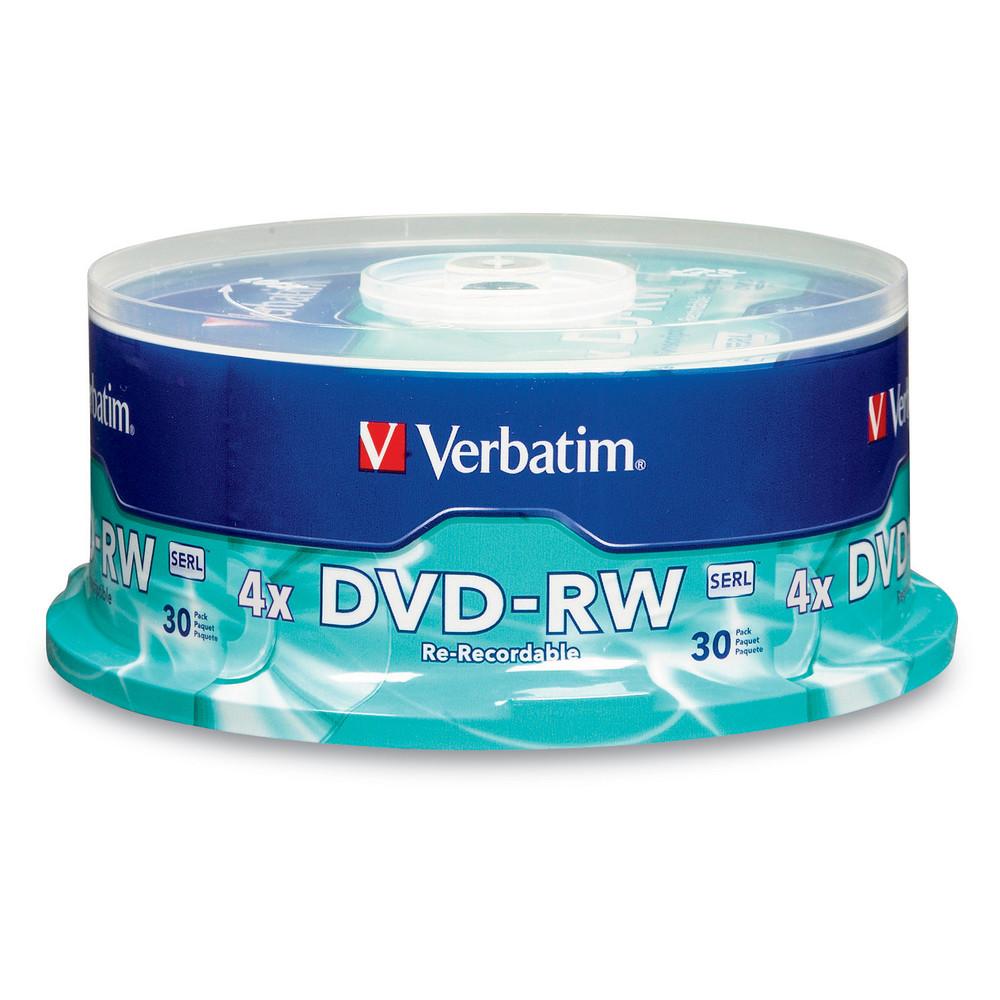 Verbatim dvd rw 4 7gb 4x with branded surface 30pk spindle 4 7gb - Home Dvd Dvd Rw Dvd Rw 4 7gb 4x With Branded Surface 30pk Spindle