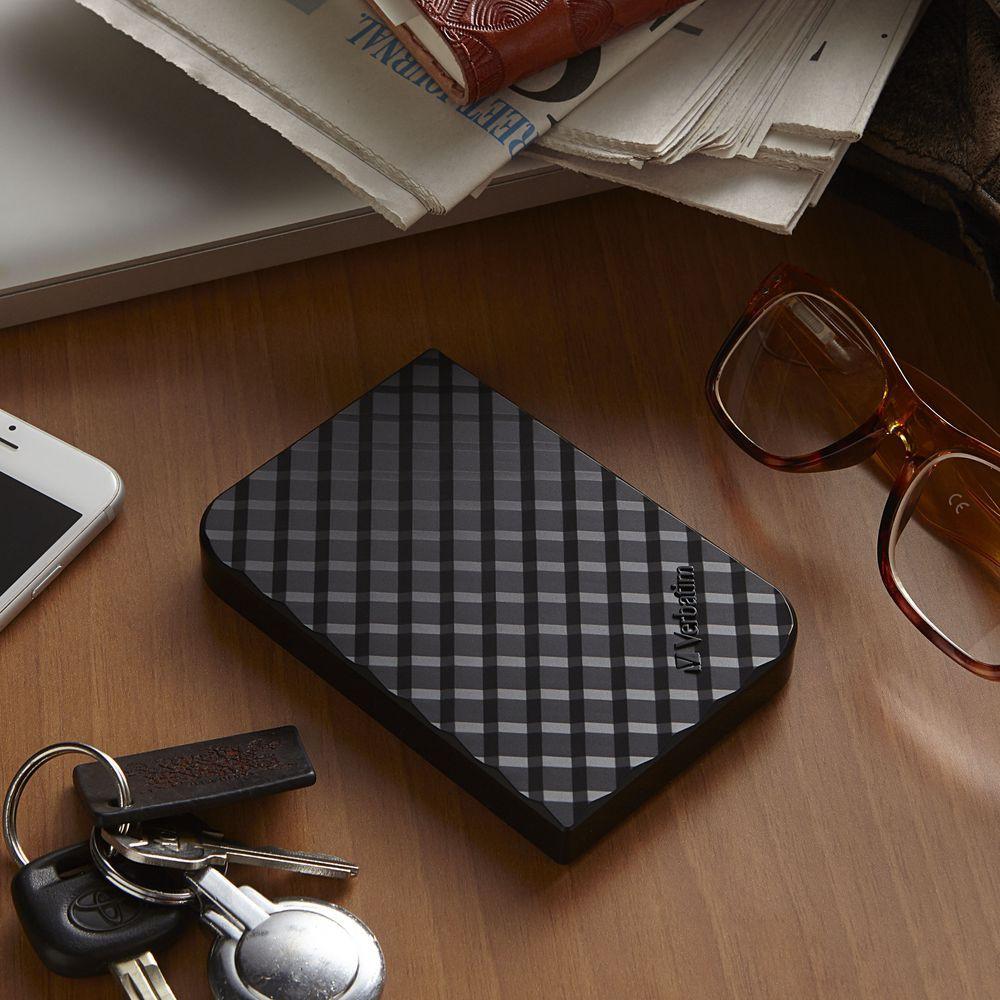 1TB Store 'n' Go Portable Hard Drive, USB 3.0 - Diamond Black: Portable - Hard  Drives   Verbatim
